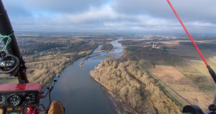 Beaulieu sur Loire – base de Bealieu – vue aérienne en ulm