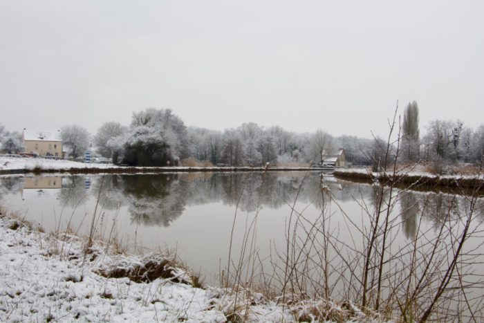 Ouzouer sur Trézée-Gite du canal la Gazonne-Le gite vu du Canal